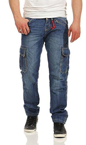 Timezone Herren Straight Jeans Regular Ben, Blau (Fog Blue Wash 3131), W32/L34 (Ben Leg Straight Jean)