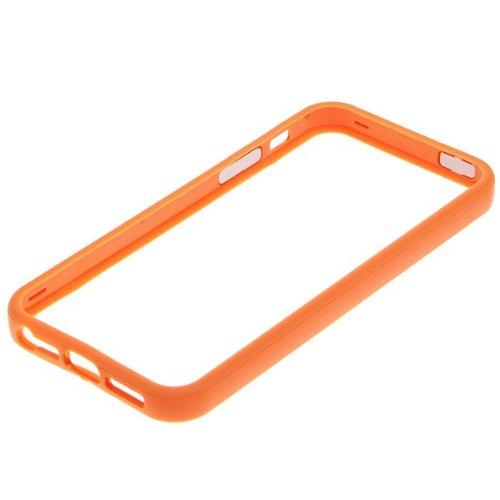 G4GADGET® Iphone 4S/4 Silicon Bumper White/Green 5/5SOrange