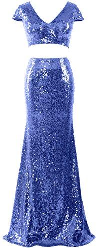 MACloth -  Vestito  - con orlo a palloncino - Senza maniche  - Donna Blau 38