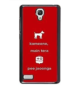 Kameene 2D Hard Polycarbonate Designer Back Case Cover for Xiaomi Redmi Note :: Xiaomi Redmi Note 4G