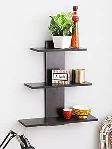 Artesia Tree Shape Wall Shelf with 3 Shelves (Brown)