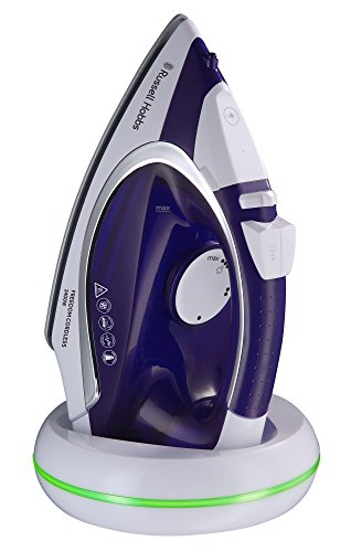 Russell Hobbs 23300-56 Supreme Steam Cordless - Plancha de vapor de 2400 W, color blanco y lila