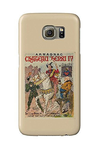 Armagnac Chateau Herni IV Vintage Poster France (Galaxy S6 Cell Phone Case, Slim Barely There)