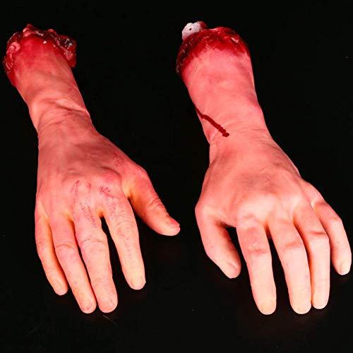 Armee Person Kostüm - LLY Dummy Arm blutige Leichenteile Spukhaus Halloween Dekorationen, 2 Stück (Links und rechts)