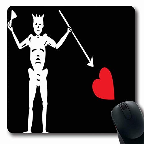 Luancrop Mousepads Bart Blackbeard Piraten-Schwarz-Grafik-Verwaltungsbereich Hauptkapitän-Abteilung rutschfeste Spiel-Mausunterlage Gummilangmatte -