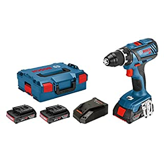 Bosch Professional Akku Bohrschrauber GSR 18V-28 (3x 3,0 Ah Akku, Ladegerät, L-BOXX, Vollmetallspannfutter, 18 Volt, Schrauben-∅ max.: 8 mm, Drehmoment max.: 63 Nm)
