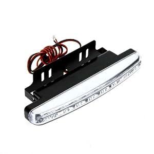 iColourful 2PCS 8LED Lampe Feu diurne de voiture d'auto super luminuse DRL blanche