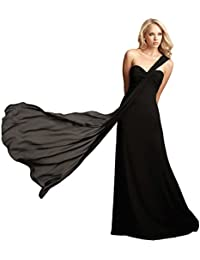 Fashion Plaza Chiffon One Shoulder Rüschen Abendkleid Ballkleid D0181