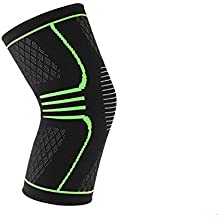 Alliance Network Knee Brace Cap/Support for Running/Gym Fitness for Men and Women, Large (Black and Neon) - Pack of 1