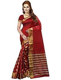 Kanchan Women Wedding Cotton Silk Printed Saree For Ladies & Girls (Blue Trendz)