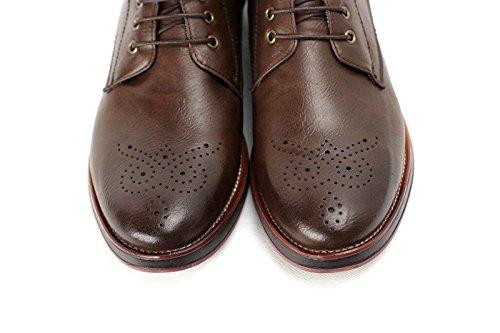 Hommes Bottine Chelsea Designer Chaussures Élégantes Café
