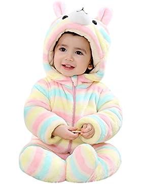 Mit Kapuze Spielanzug-Säuglingskleinkind Schneeanzüge Overall Winteranzüge für Babymädchen