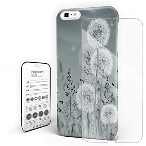 YEHO Art Gallery Schutzhülle für iPhone mit Einhorn-Motiv und hübschem Sakura Pink, iPhone 6 / 6s Plus, GrayDandelion (Iphone 6 Wallet Schieben)