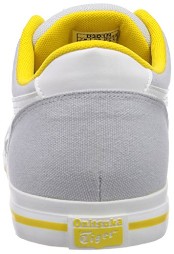 Onistuka Tiger Aaron, Chaussures de basket-ball mixte adulte Blanc (1001-Soft Grey/White)