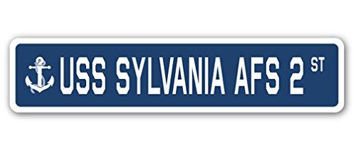 USS Sylvania AFS 2Street Sign US Navy Schiff Veteran Sailor Geschenk