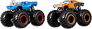 Hot Wheels - Monster Trucks Duelos Dobles Pack de 2 Vehículos 1:64, Coches de Juguetes (Mattel GJY45)