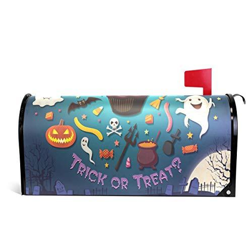 Alaza(mailbox cover) WOOR Vintage Halloween mit Cupcake Magnetbriefkasten, Standardgröße, 45,7 x 52,1 cm 25.5x20.8 inch Oversized Multi