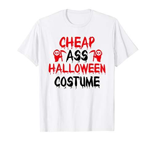 Billig Arsch Halloween Kostüm T-Shirt