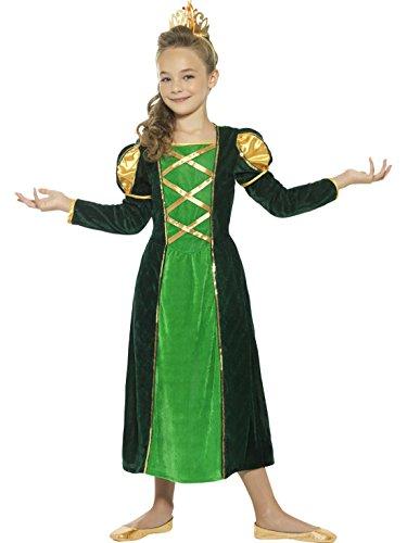 Halloweenia - Froschkönig Prinzessinnen Kostüm für Kinder, 152-170, 12-15 Jahre, Mehrfarbig (Prinzessin Jasmin Kostüm Tiara)