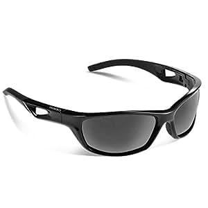 Occhiali da sole sportivi, CHEREEKI Occhiali da sole sportivi Polarized con protezione UV400 e TR90 Unbreakable Frame, per Uomini Donne Esterni Sport Pesca Ski Driving Golf Corsa Ciclismo Campeggio