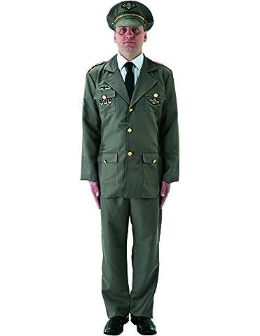 Officier russe camarade Veste Costume pour adulte pour femme officiers Hat
