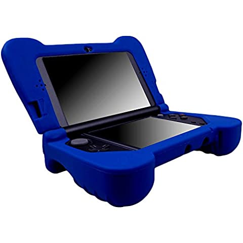 Pandaren® silicone Hand GRIP Protector Case Cover for New Nintendo 3DS XL BLUE(not for old version 3DS XL)
