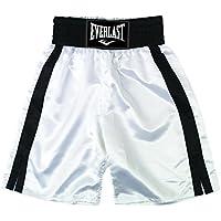 Everlast Pro 24` - Pantalones de boxeo, color Blanco/Negro, talla S