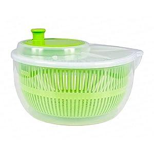 Salatschleuder mit Kurbel und Ausgießer Salatschüssel Salat-Trockner inkl. Sieb