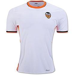 20162017Valencia CF Enzo Perez Shkodran MUSTAFI Daniel Parejo casa fútbol Jersey en color blanco, hombre, blanco, small