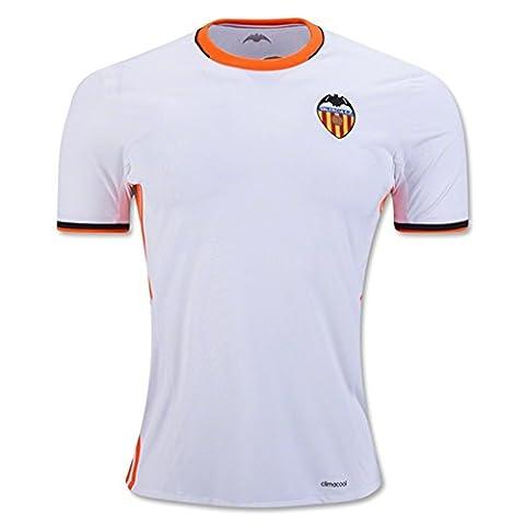 20162017Valencia CF Enzo Perez Shkodran mustafi Daniel parejo Home Jersey de Football de football en blanc XL blanc