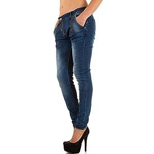 Damen Jeans, USED LOOK HÜFT ZIPPER SKINNY, KL-J-FA062