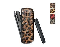 [PU Case für IQOS] PU Hülle für IQOS 3.0 Zigarette Case Kunstleder Kratzfest Tasche Schutzhülle Lederetui Anti-Fall Box (Braun)