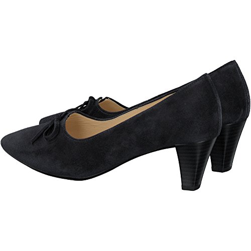 Pearl Gabor Court Shoe 65.147 Bleu Marine En Daim