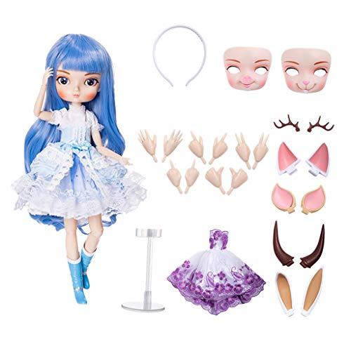 Homyl Moderne Mädchen Gelenkpuppe Modepuppe Spielzeug mit Kleidung und Zubehör für 1/6 BJD Bbgirl Puppe - # 6
