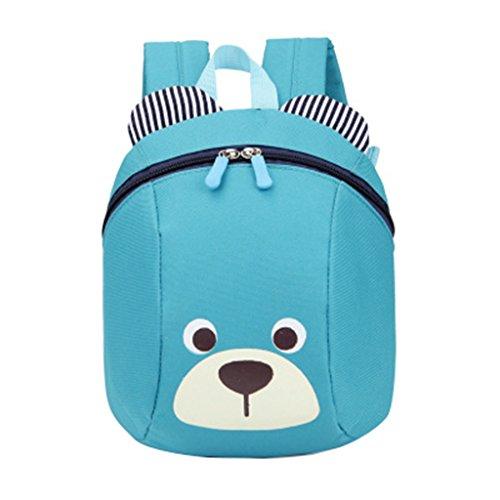 Babyrucksack Backpack Oxford Gewebe Kinder Baby Kindergarten Mini Rucksack Kindergartentasche Bär Muster für 1-3 jahr