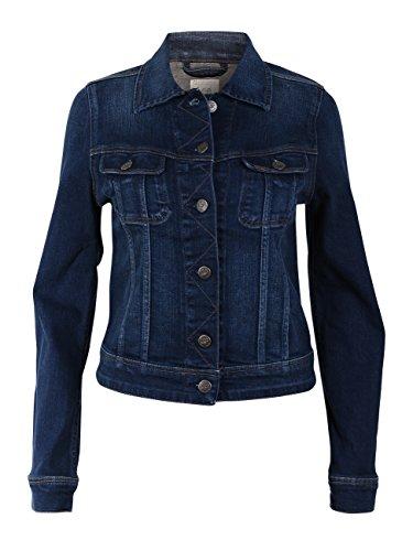 Lee Damen Jeansjacke Slim Rider - Slim Fit - Blau - Mean Streaks, Größe:L, Farbe:Mean Streaks (L541KIMS) (Lee Jeans-jacke)
