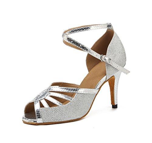 Miyoopark - Ballroom donna Silver-8.5cm Heel