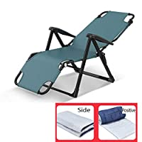 LXLTL Three-In-One Reclining Chair Recliner Chairs Office Folding Bed,Multi-Function Garden Outdoor Patio Sun Loungers with Cotton Pad can Bear 200Kg,Blue