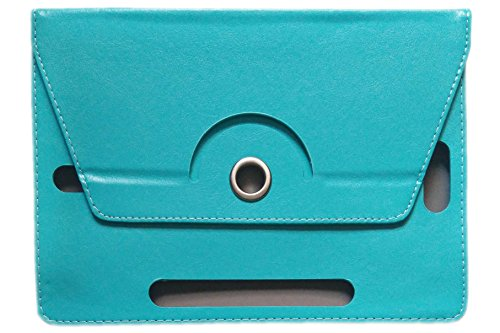 "KANICT® 360° Rotating 7""Inch Tablet Leather Flip Case Cover For Micromax Canvas Tab P701 Plus Front Back Book Stand -Sky Blue"