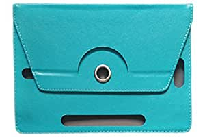 KANICT Rotating Tablet Leather Flip Case Cover Compatible for Amazon Kindle Fire HD (Sky Blue)
