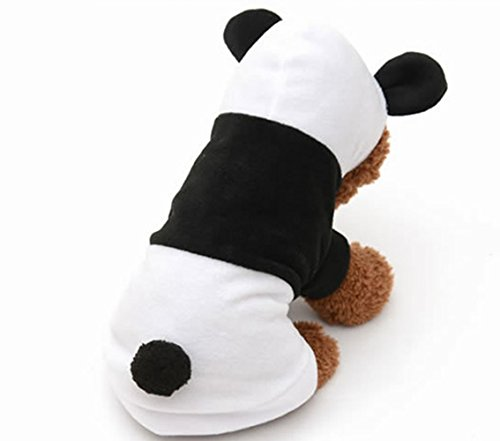 Vesi - Mantel Kapuzenpullover für Hund Jacke Kleidung von Panda Kostüm (Panda Hund Kostüme)