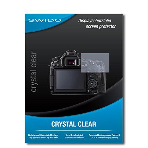 SWIDO® Displayschutz für Canon EOS 80D [4 Stück] Kristall-Klar, Hoher Härtegrad, Schutz vor Öl, Staub und Kratzer/Schutzfolie, Displayschutzfolie, Panzerglas Folie