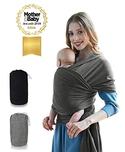 Babytragetuch - Tragetuch baby für Neugeborene baumwolle elastisch inkl. Anleitung und Tragetasche - Babytragetücher für Babys