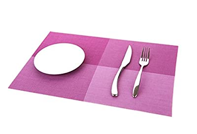 Demarkt Deluxe PVC Grid Adiabatic Placemat Dining Room Table Mat for Table Heat Insulation Anti-skid