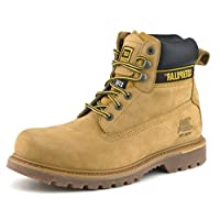 Caterpillar Mens Holton Nubuck Leather Goodyear Welted Safety Boot