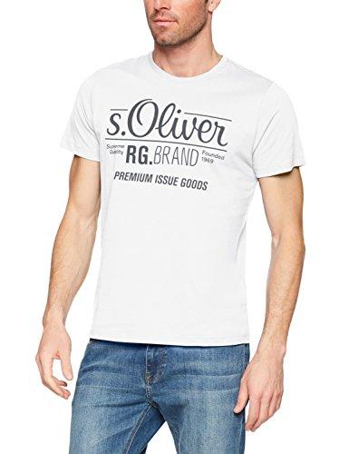 s.Oliver Herren T-Shirt Onllive Love Trendy Stripe SS Oneck NOOS, Weiß (White 0100), Large (Diesel-baumwoll-polo-shirt)