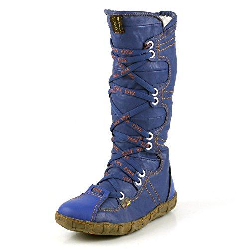 TMA Damen Winter Stiefel Boots Gefüttert Winterstiefel 2018 Blau
