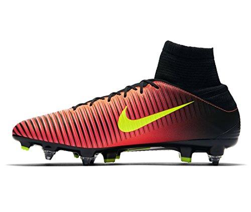 Nike Mercurial Veloce Iii Df Sg-Pro, Scarpe da Calcio Uomo Arancione (Naranja (Total Crimson / Vlt-Blk-Pnk Blst))
