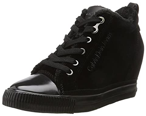 Calvin Klein Robina Velvet, Baskets Femme, Noir (Black), 37 EU