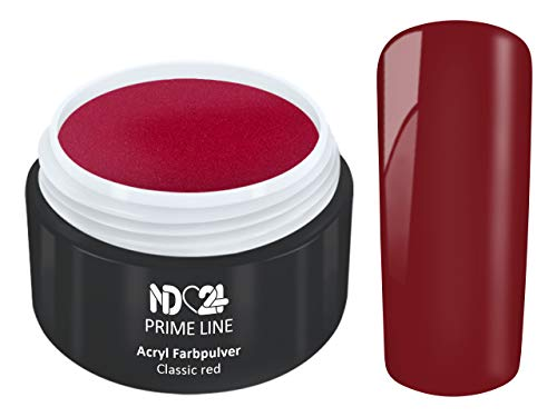 5G - PRIME LINE - ACRYL FarbPulver ROT - Feinstes FARB Acryl-Puder Acryl-Pulver Acryl-Powder - STUDIO QUALITÄT